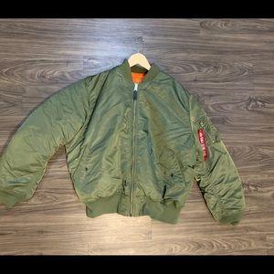 Men's Alpha green bomber jacket